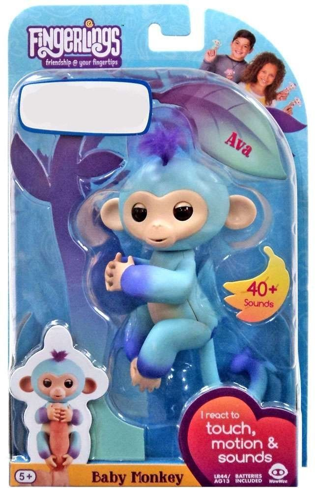 Fingerlings Interactive Blue Baby Monkey AVA AUTHENTIC TRS Exclusive NEW