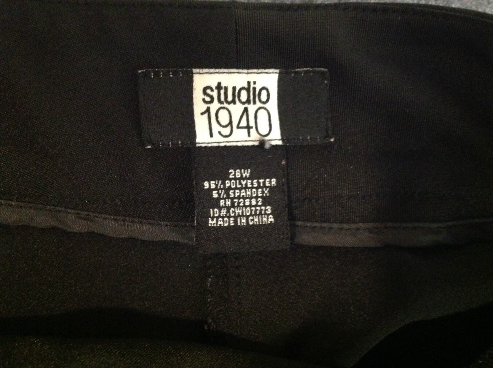 Studio 1940 Black Dress Shorts Sz 26W