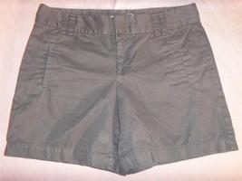 W6659 womens ANN TAYLOR LOFT black cotton casual summer walking shorts sz 4 - $14.50