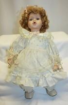 "Vintage 15"" Porcelain Doll – BUBBLE BABY Sitting Position - $19.79"