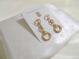 "Charter Club 1-3/4"" Gold-Tone Horse-Bit Drop Earrings N895 $29 - $13.43"