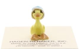 Hagen-Renaker Miniature Ceramic Bird Figurine Goose Tiny Sister with Bonnet image 2