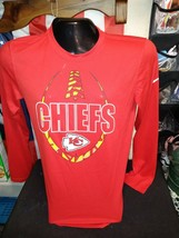 Small /Red Kansas City Chiefs Football Nike Dri-Fit Long Sleeve Tee NWT - $27.71