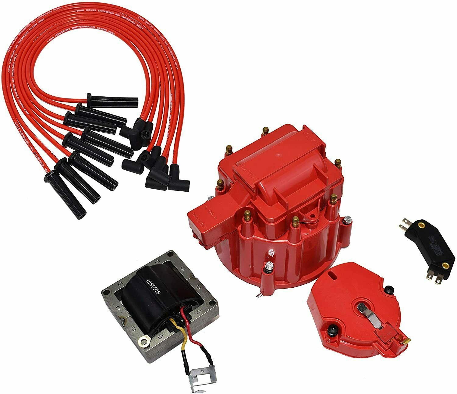 Chevy BBC 396 402 427 454 HEI Distributor Tune Up Kit & 8.0mm Spark Plug Wires