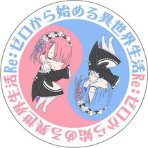 "Re:ZERO Anime Rem & Ram 15.7"" Micro-suede Fabri Round Pillow Soft Cushio... - $11.87"