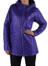 ADIDAS ORIGINALS WOMEN'S 'FEM PADDED PARKA' PURPLE COAT JACKET QUILTED RRP £150 image 3
