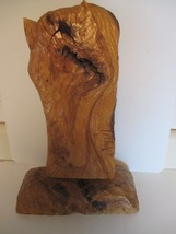 VINTAGE 1975 SIGNED WORMY PECAN WOOD HORSE CARVING - $16.82