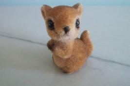 Josef Originals Kangaroo Chipmunk Figurine Flocked Fuzzy Miniature - $9.99