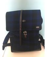 Jack Spade leather suede mens back pack blue black - $95.00