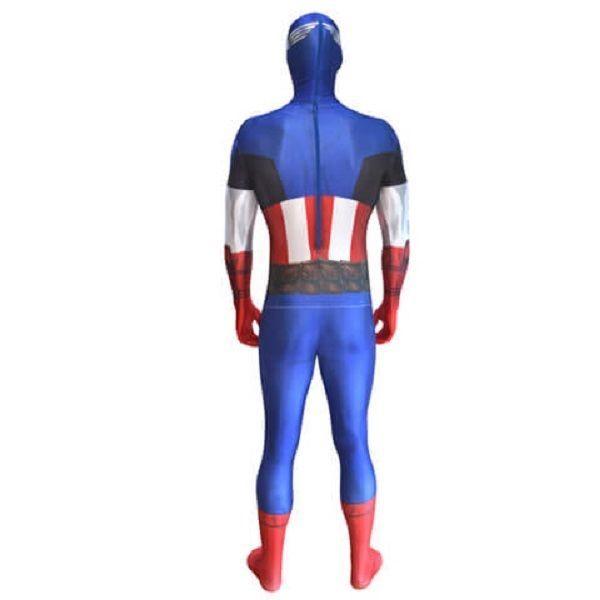 Adult Captain America Marvel Comics Morphsuit Zapper Comic-Con Cosplay Costume