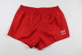 Vintage 80s Neuf Adidas Homme Large Sort Out Course Football Short Rouge... - $52.54