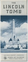1950s Lincoln Tomb Travel Brochure Springfield Illinois Cemetery President - $10.00