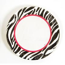 9 Zebra Printed Plates/Case of 288 - $81.71
