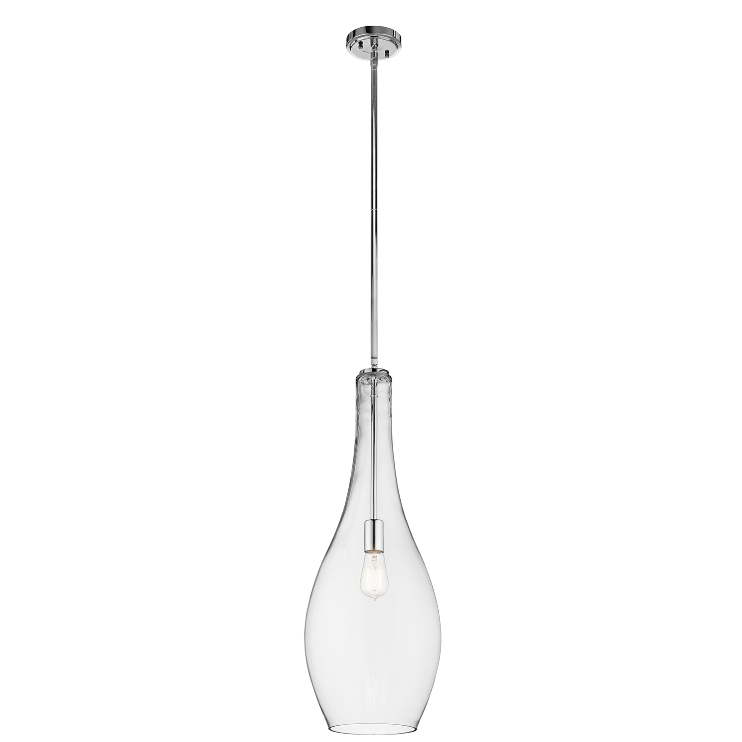 Primary image for Kichler 42475CHCLR Everly Pendants 11in Chromes Tones STEEL 1-light