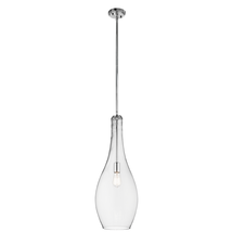 Kichler 42475CHCLR Everly Pendants 11in Chromes Tones STEEL 1-light - $289.99