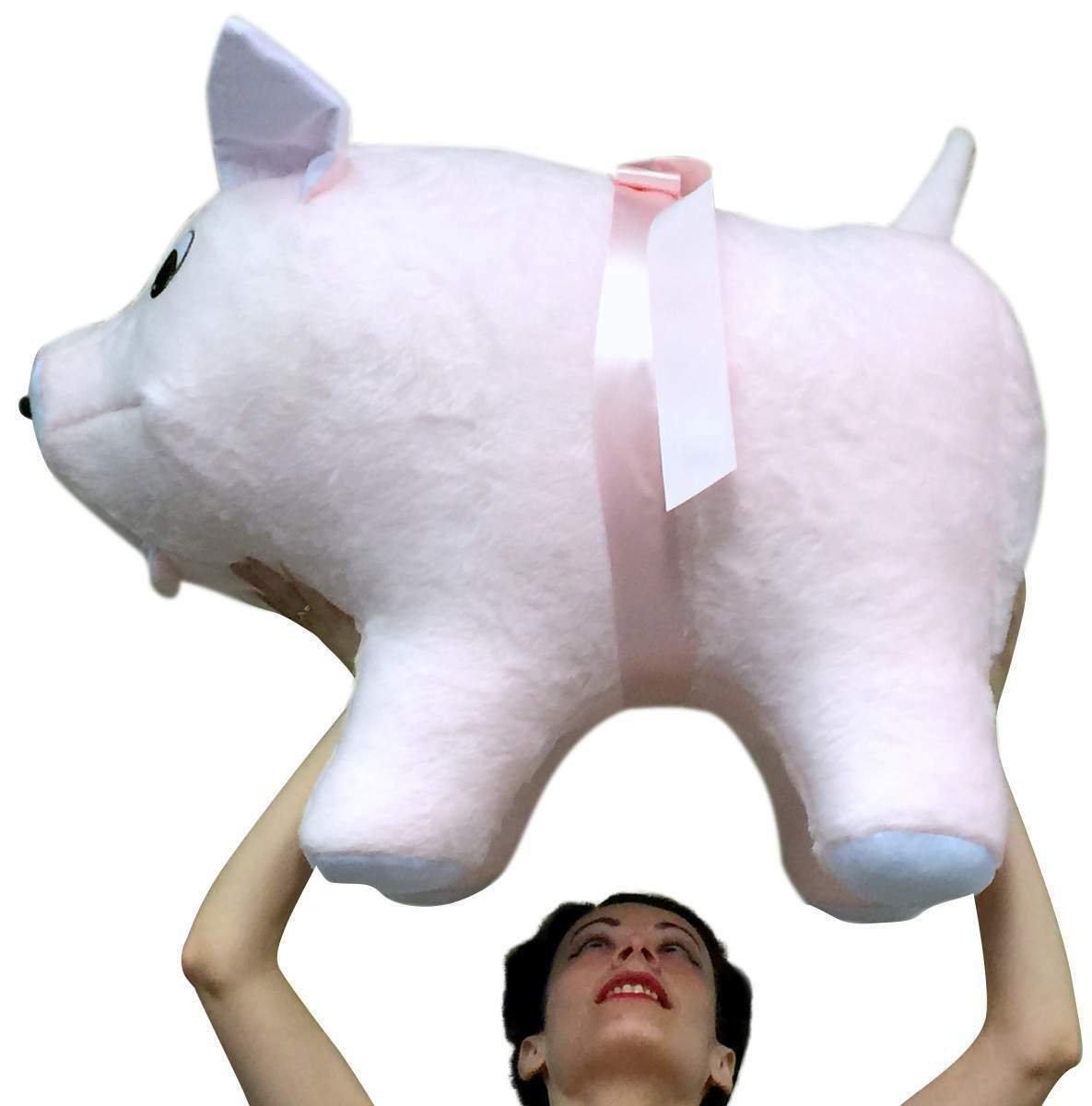 American Made Giant Stuffed Pink Pig 32 Inch Soft Made in USA America Brand New - $147.21