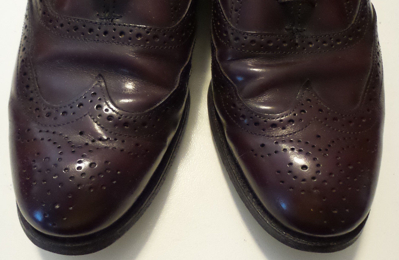 DEXTER Oxford Reddish Brown Wingtip Lace Up Leather Soles Mens Size 9 WW USA