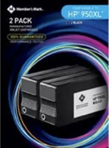 Members Mark Hp 950XL Cartridges Black 2-PACK *Distressed Box - $17.81