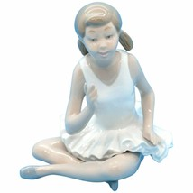 NAO BY LLADRO 0146 SEATED CROSS LEGGED ATTENTIVE BALLET DANCER BALLERINA... - $59.39