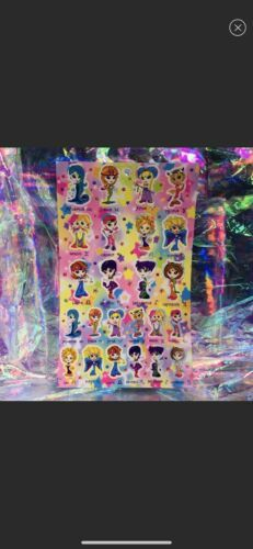 Vintage Lisa Frank Sticker Sheet Zodiac Horoscope Astrology Girls Complete