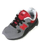 New Balance 580 Toddler Running Shoes, KL580FWI, Grey/Black/Red, US 10 M... - $54.44