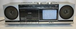 80's Emerson XLC450 AM-FM Stereo Receiver Cassette Player Recorder Boomb... - $79.19
