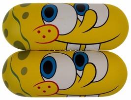 Nickelodeon Spongebob Squarepants Lot 2 Eye Sun Glasses Hard Case Yellow... - $15.49