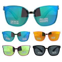 Girls Child Size Panel Color Mirror Lens Horn Rim Mod Sunglasses - $9.95