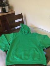 NWOT Men's Jerzees Green Blank Hoodie Sweatshirt Medium New Without Tags - $23.75