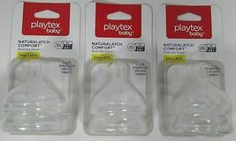 Lot of 3 Playtex  Baby NaturaLatch Medium Flow Bottle Nipples 2 Pack (6 total) - $24.99