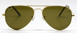 Ray Ban 3025 001/33 Golden Aviator Sunglasses 58mm New and Authentic - $80.14