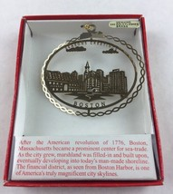 Nations Treasures Boston Massachusetts Cityscape Brass Metal Souvenir Or... - $11.88