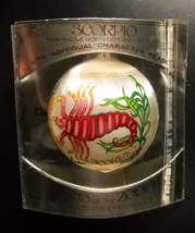 Bradford Novelty Christmas Ornament 1979 Signs of the Zodiac Scorpio Sle... - $10.99