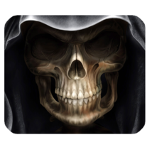 Mouse Pads Skull Scary Horror Design With Black Background Animation Mousepads - $6.00