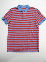 Gap Polo Shirt Peach & Blue Striped the Modern Pique Polo Shirt M $30 - $7.76