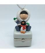 Hallmark Keepsake Frosty Friends KOC Ceramic Box Ornament 2002 Christmas... - $21.34