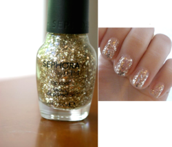 Sephora By Opi Only Gold For Me Glitter Top Coat Nail Polish Lacquer Se 451 New! - $6.91