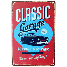 VINTAGE TIN SIGNS METAL PLAQUE PAINTING 30 X 20 CM. CAR REPAIR SHOP WALL... - €5,62 EUR