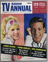 ORIGINAL Vintage 1964 TV Radio Mirror Annual Connie Stevens Donna Douglas - $18.51