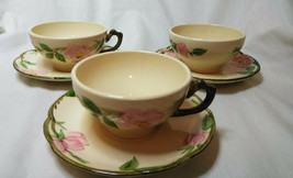 Vintage Franciscan China Set of 3 Tea cups & Saucers, Coffee cup Desert ... - $12.38