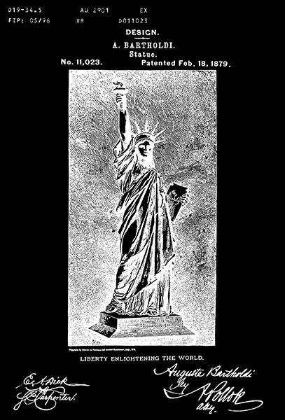 Primary image for 1879 - Statue of Liberty - New York - A. Bartholdi - Patent Art Poster