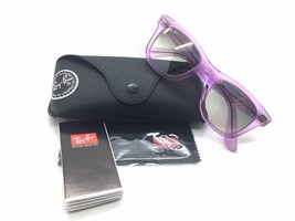 Ray-Ban Sunglasses WAYFARER RB 2140 6056/32 50-22 Demi Gloss Violet w/ G... - $73.57
