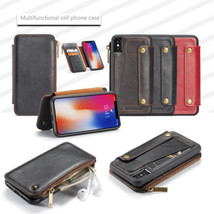 for iPhone X 2in1 Detachable PU Leather Wallet Zipper Case & Flip Stand Cover - $11.94