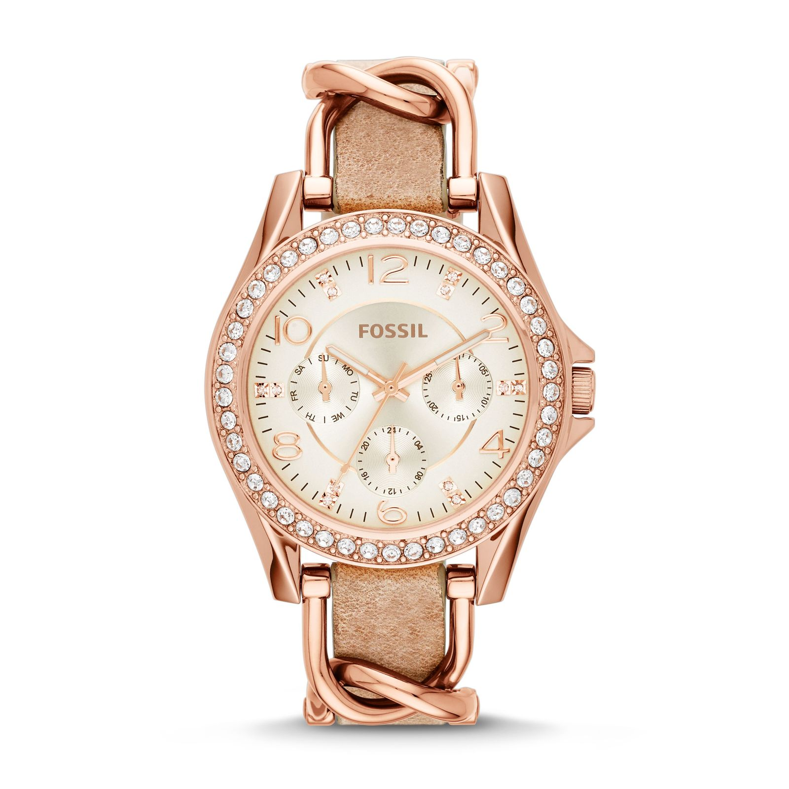 Fossil Women's Riley Leather Watch (Style: ES3466) image 1