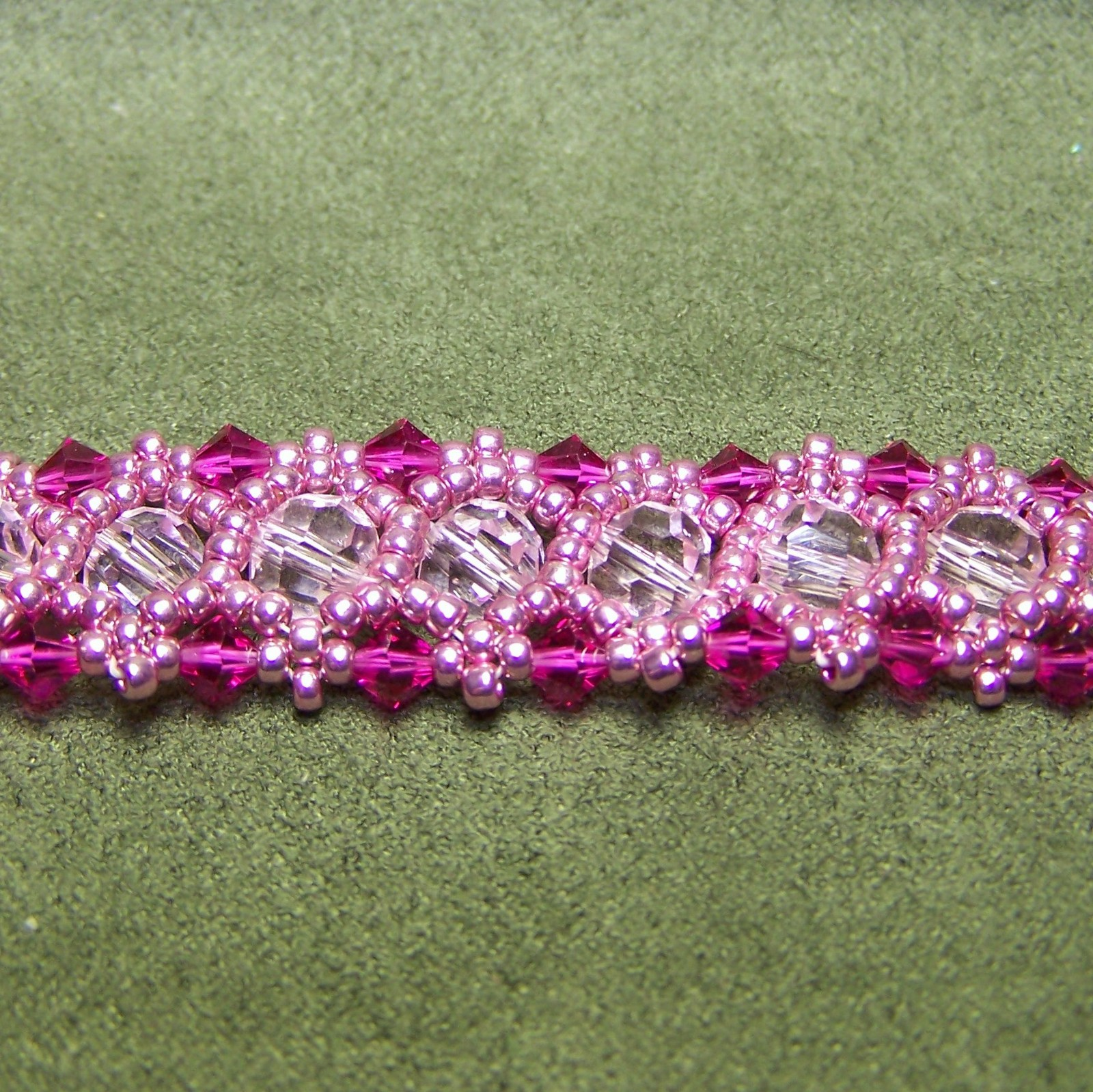 Pink, Pink, and More Pink Crystal Bracelet