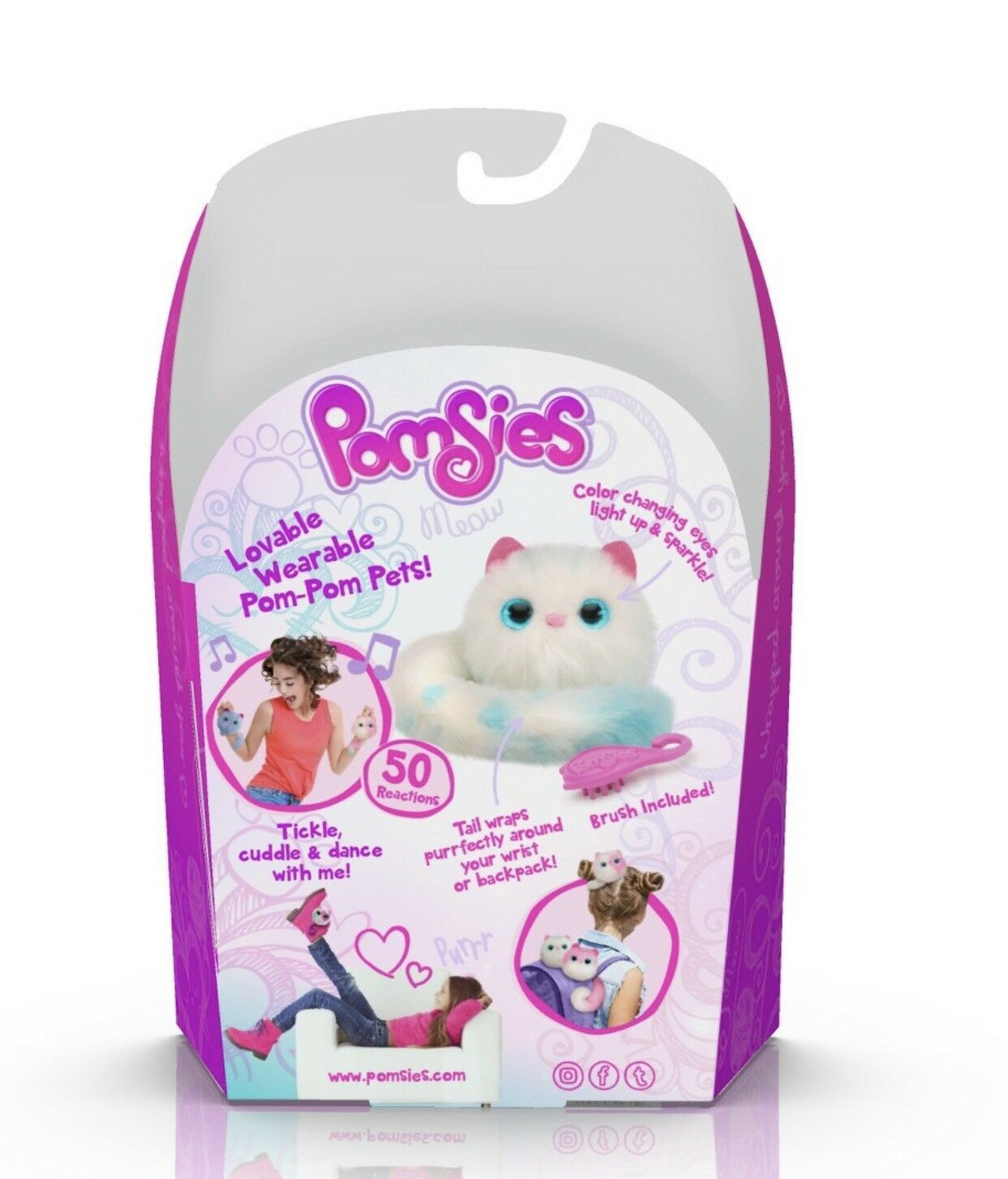 Pomsies Pom-Pom Wearable Pet -SNOWBALL