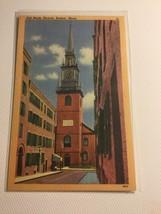 Old North Church, Boston, MA. Pub: Tichnor Bros., Boston, MA COLOR - $7.70
