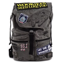 Loungefly Star Wars Rebel Wookie Patch Millennium Falcon Bag Backpack STBK0098 - $70.00