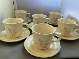 Pfaltzgraff Tea Rose Cups & Saucers 12 - $10.89
