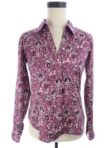 Talbots Haberdashery Petites Pink Floral Print Button Down Shirt 4P Top ... - $10.00